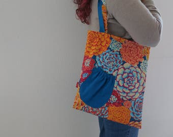 Easy Tote : Bright Flowers