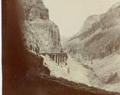 Vintage Snapshot 1900 Concrete Road Golden Gate Canyon Yellowstone Park Wyoming