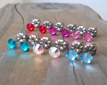 Stocking Stuffer for Girls - Titanium Stud Earrings - Hypoallergenic - Post Earrings - Stud Earrings - Small Earrings - Christmas Gift Idea