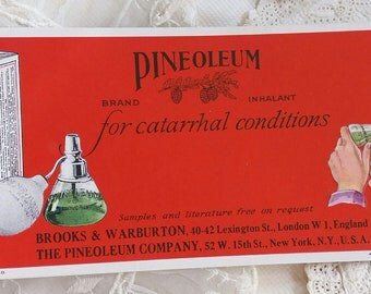 1926 Advertising Pineoleum for Catarrhal Conditions