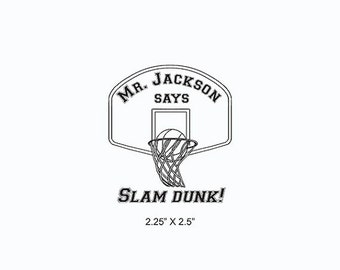 Season of Love Basketball Slam Dunk Teacher Coach Custom Rubber Stamp AD366