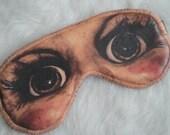 Freak Them Out Sleep Mask DEATH DOLL * FreakyOldWoman FOW blindfold devil worship annabelle horror film movie scream nightmare cult murder