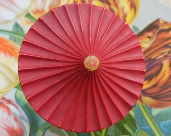 Vintage Large Button Celluloid Umbrella
