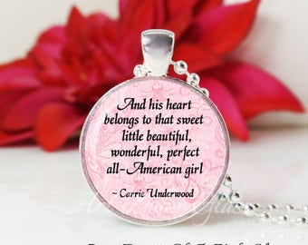 Round Medium Glass Bubble Pendant Necklace- All- American Girl- Carrie Underwood Song Lyrics