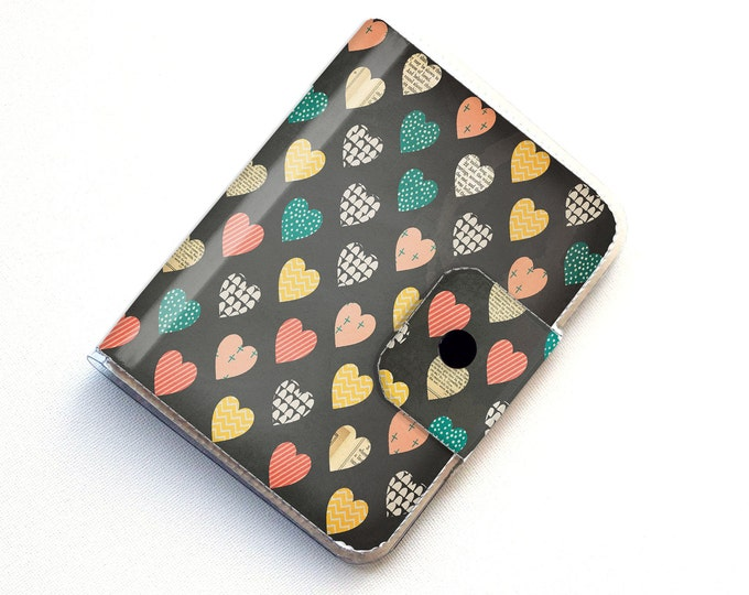 Vinyl Passport Case - Deeply Madly / traveller, hearts, love, passport, vinyl, gift, woman's, wallet, case, animal, chevron, cute