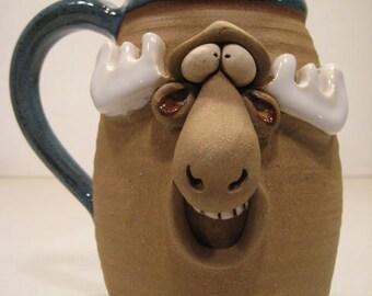 Happy Moose Mug .....      a69