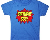 Kids Superhero Birthday Boy T-shirt