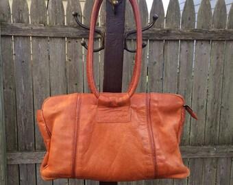 Vintage 1970s boho hippie satchel handbag purse