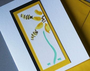 Sunflower with Bees Personalized Thank You Note Cards set of 6 cards with envelopes