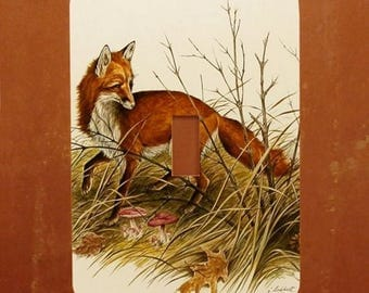 Foxy -- Gorgeous Fox Wildlife Painting Light Switch Cover -- Oversized (Multiple Styles)