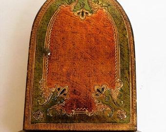 VINTAGE Florentine Box Hanging KEY Holder
