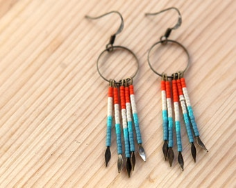 Beaded Fringe Earrings - No. 1