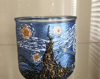Starry Night Inspired Candleholder
