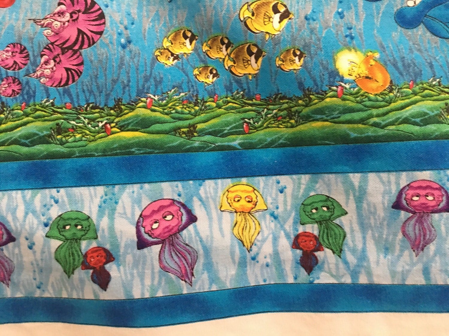 Creatures of the sea cotton fabric by the yard new from for Children of the sea fabric