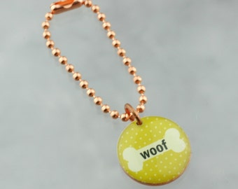 Woof Dog Pet Planner Charm, Traveler's Notebook Charm, Purse Charm, Happy Planner Charm
