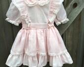 80s Pink Puffy Dress 2T