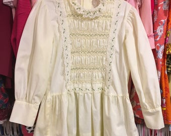 1970s Smocked Dress 4/5T