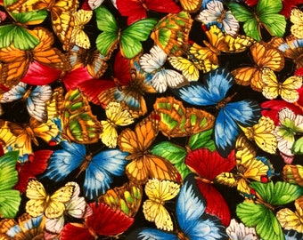 Butterfly Fabric  Half Yard by Cranston Print Works