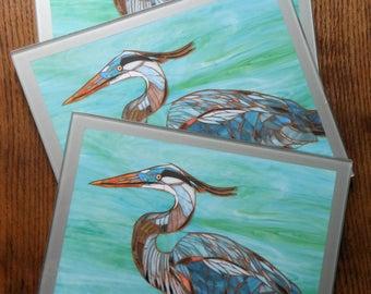 Hot Plate Trivet Worktop Saver - Blue Heron Mosaic Art- Foam Backed Placemat - Heron Tablemat - Bird Hotplate - Heron Trivet - Bird Art