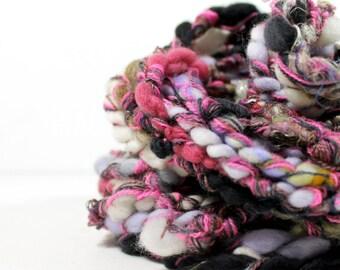 sweet cakes #2 .. art yarn, hand spun yarn, handspun art yarn, wool yarn, boucle yarn, bulky yarn, handspun wool yarn .. wild 4