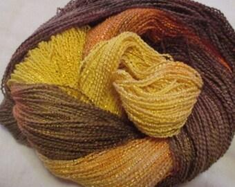Hand painted Cotton Boucle Yarn - 315 yds.  COBBLESTONE