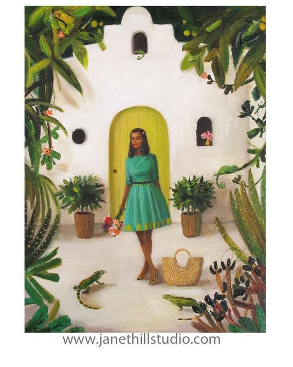 House of the Iguanas. Original Oil Painting