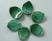 Ceramic ChopStick/ Pen Rests, Hand Made Set of Six, Leaf