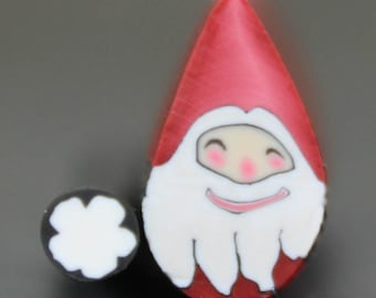 MINI Santa Claus Polymer Clay Face Cane (35B)
