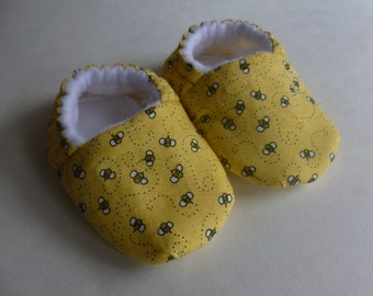 Bumble Bees!  Soft Shoes Size - MADE TO ORDER
