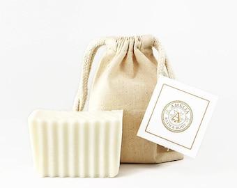 Super Sensitive Skin Soap, Unscented, Scent Free, Fragrance Oil Free, Palm Oil Free, Coconut Oil Free, Natural Vegan Soap   Pureness Soap