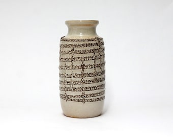 SCHEURICH Lava Relief vase 213-20 | German pottery | West Germany Ceramics | Mid Century Modern Home Decor