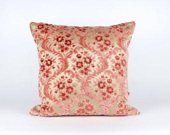 Luxury Pink Velvet Pillow Cover - Shabby Chic - Designer Pillow - Cushion Cover - Decorative Pillow Handmade by EllaOsix
