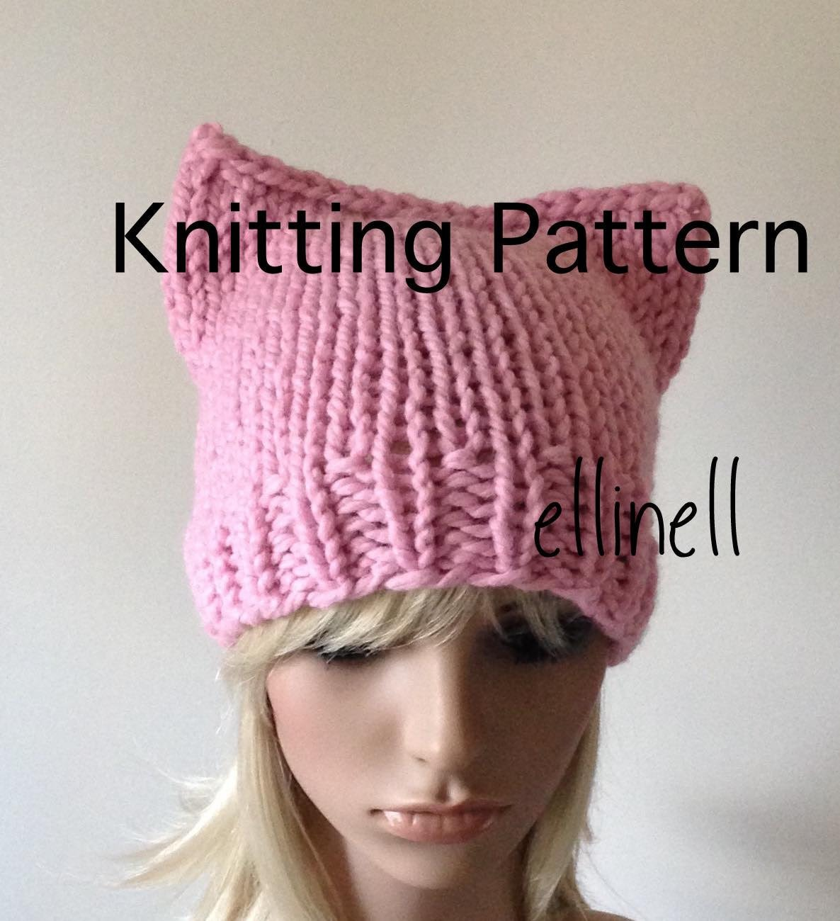 Knitting pattern pussy hat diy not a completed hat kitty zoom bankloansurffo Gallery