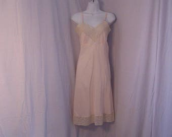 Ladies Full Slip, Pale Pink Lingerie, Full Slip