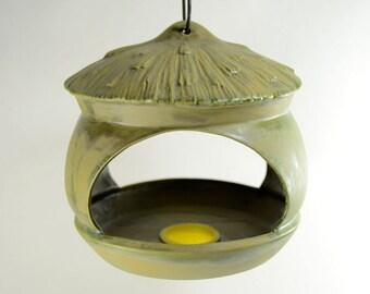 Ceramic Bird Feeder Scioto Moss