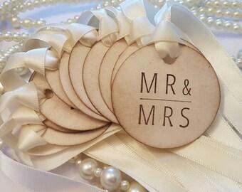 Wedding Favor Tags, Ivory Wedding Favours,Jam Jar Labels, Wine Bottle Labels, Tea Favours, Alcohol Favours, Mr and Mrs Tags, Bride and Groom