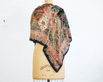 Vintage Ralph Lauren silk scarf  large silk shawl