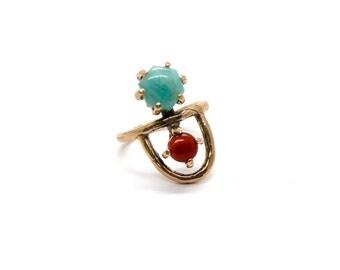 Arche Ring // Amazonite & Red Jasper
