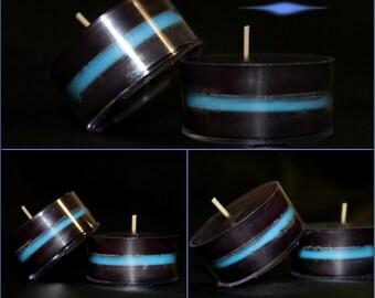 Thin Blue Line Tealights