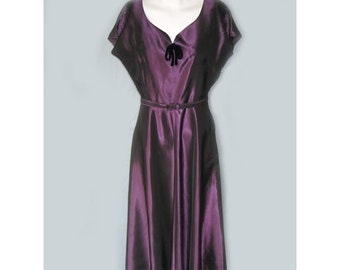 Vintage 1940's Purple Iridescent Taffeta Jacket and Dress
