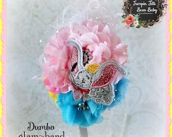 Dumbo OTT Glamour Bloom Hair Flower clip headband