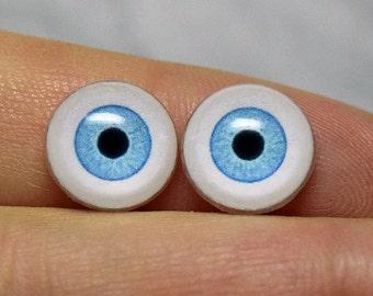 Doll eyes 10mm color Aqua