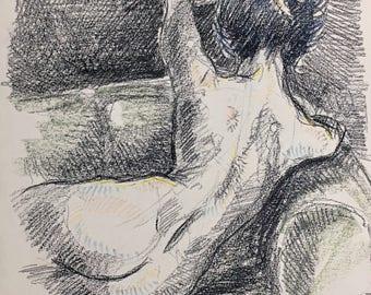 Sofa - Charcoal figure drawing