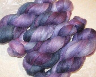 Handpainted Roving -- Merino Wool and Silk
