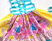 Belle Cinderella Rapunzel Disney Princess dress Momi boutique custom dress