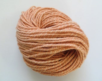 Natural dyed Yarn with Madder Root Alpaca and Merino Yarn Hand Spun Bulky 2 ply 8.1 oz