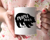 Mama Bear Mug . Christmas Mug for Mom - Gift for New Mom - Personalized Coffee Mug - Gift for mother