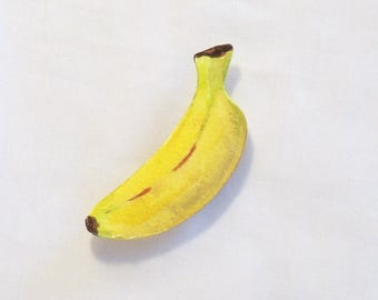 Hand Painted Banana - Refrigerator Magnet - Watercolor Painting - Fruit Magnet - Kitchen Decor - Home Gift - Home Decor