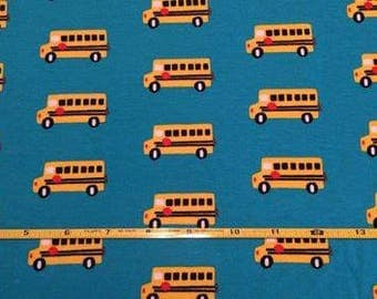 "NEW Cloud 9  Bus Stop  Organic Cotton Interlock 54"" wide per yard"