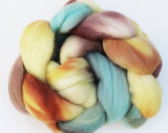 "Polwarth Wool Spinning Fiber, 4 oz, ""Seaside"""